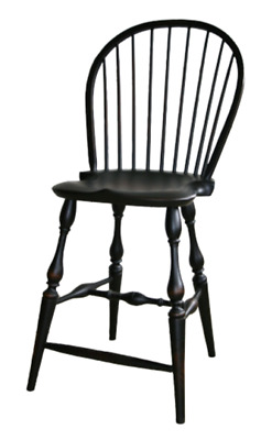"""NEW USA Handcrafted Custom Made Colonial Style Chair WINDSOR 24""""  BAR Chair"""