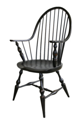 NEW USA Handcrafted Custom Made Colonial Style WINDSOR Continuous Bow Chair