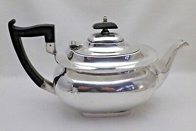 Antique Silver Plate Georgian Belly Shaped Teapot 2 1/2 Pints Walker & Hall