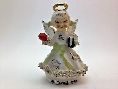 Vintage Lefton Made in Japan Angel with Apple and School Book