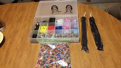 Beads & Safety Pins For Making Beaded Headdresses + 2 Made Everything You Need
