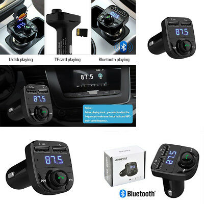 Dual USB Car Charger Hands-free Wireless Bluetooth FM Transmitter LCD MP3 Player