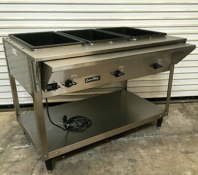NEW 3 Well Steam Table Electric ServeWell Vollrath 38217 #4879 Food Warmer NSF