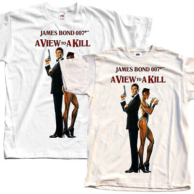 James Bond: A View to a Kill, movie 1985, T-Shirt (WHITE) All sizes S to 5XL