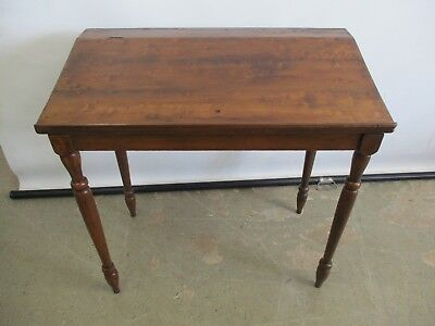 "Antique Early 1900's Solid Wood Writing Desk Slant Top Desk W/ Storage 34""x19""x"