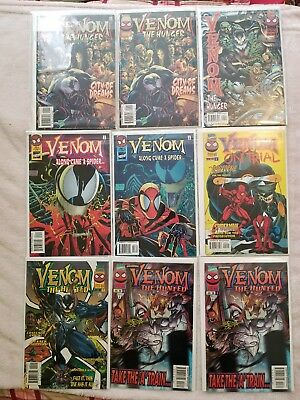 Venom Comic book Lot 9 Comics Total with #1s NM Condition First Prints Marvel