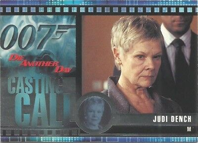 2002 James Bond OO7 007 Die Another Day Casting Call chase card #C6