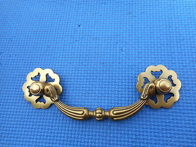 "Antique Vintage Brass Furniture Drawer Pull Chippendale Karges 5"" CtoC Holes NOS"