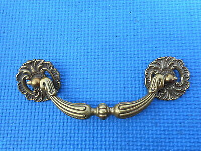VINTAGE Brass Furniture Drawer Pull French Regency Style NOS Karges Holes 4 3/4""