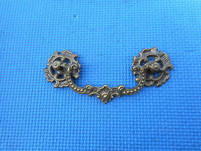 "VINTAGE Brass Hardware Furniture Drawer Cabinet Dresser Pull 4"" Holes NOS"