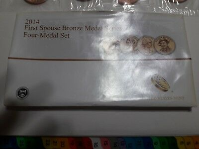 """2014 First Spouse Bronze 4 Medal Set Extremely *RARE!!!  """"KEY TO THE SERIES*!!!"""""""
