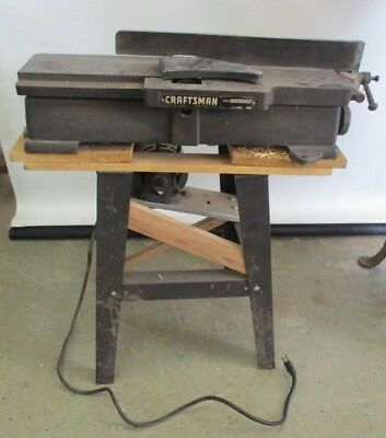 Vintage Heavy Duty Craftsman 13.21861 Jointer Planer Industrial Jointer On Stand