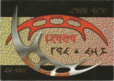 Star Trek The Next Generation Season 2 Klingon chase card #S8