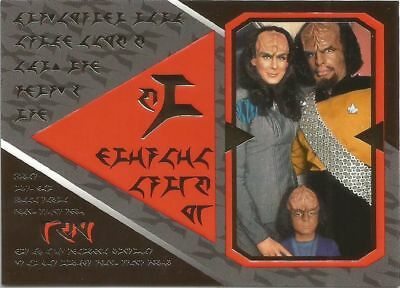 Star Trek The Next Generation Season 3 Klingon chase card #S13