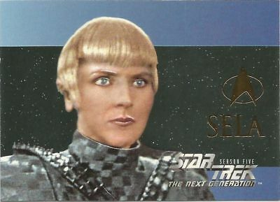 Star Trek The Next Generation Season 5 Foil Embossed chase card #S30 Sela