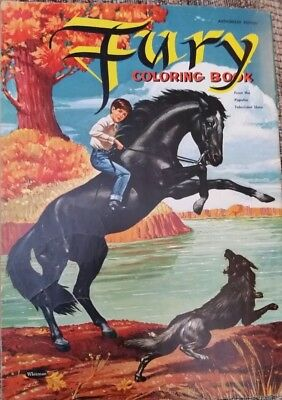 Fury coloring book horse western -1957 TV Show