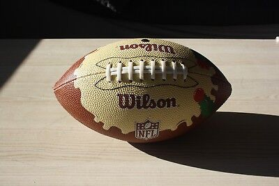 """NFL Wilson Full Size Football """"Christmas Pudding Special Edition"""""""