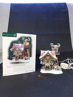 "Department 56 ""mickey's North Pole Holiday House"" North Pole Series #56759"