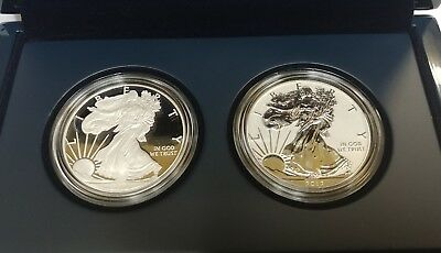 2012-S American Silver Eagle San Francisco Two Coin Set Proof And Reverse
