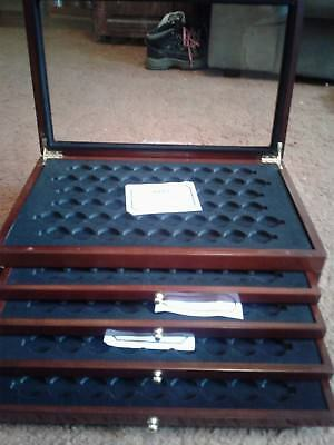 First Commemorative  Mint Display Coin Case  Box (no coin) Holds  280 COINS !!!