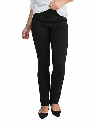 SPANX FD1914 The Signature Straight Jeans in Dark Dipped Side Zip