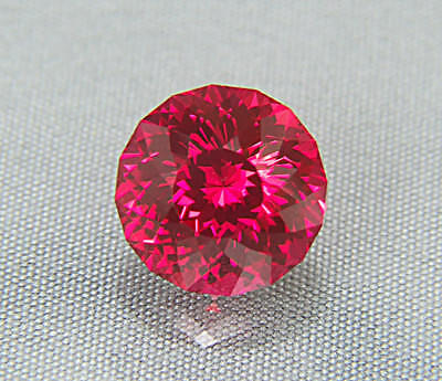 Ruby. Pigeon Blood Color. Lab Grown. Round Portuguese 12mm. 9.95cts. Stunning...