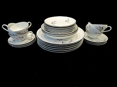 Vintage Cherry Blossom 27 Piece Dinnerware Set Fine China Japan Beautiful Dishes