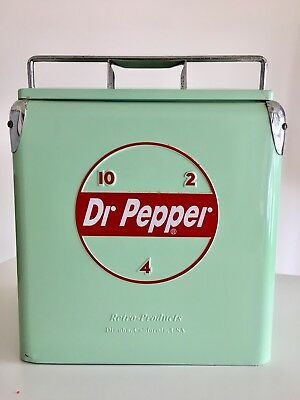 Vintage DR PEPPER A1 Tall Cooler Ice Chest By Retro Products, Dinuba California