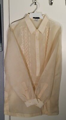 Men's Barong Tagalog - Large - Worn Once - Great Condition - Raquel Navarro