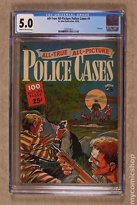 All True All Picture Police Cases #1 1952 CGC 5.0 1293374011