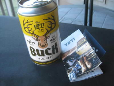 YETI Buck Tin Beer Can Bank with decal Stash Can - Hidden Safe - Coin Bank - NEW