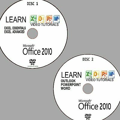 MICROSOFT OFFICE 2010 SIMPLE VIDEO TUTORIAL TRAINING PC DVD WORD POWERPOINT Etc