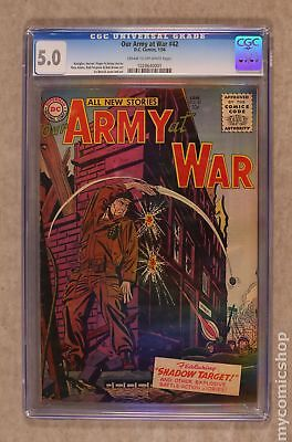 Our Army at War #42 1956 CGC 5.0 1028640001