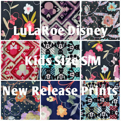 LuLaRoe Disney Mickey Minnie Mouse Kids S/M Leggings, New Release Prints!