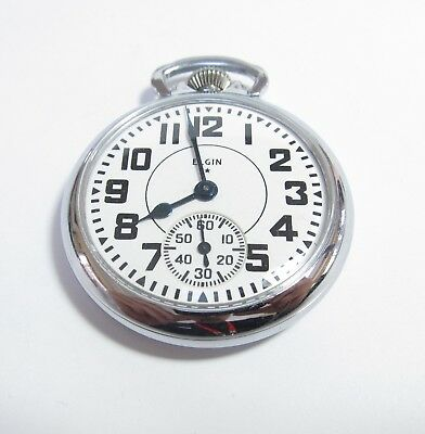 Elgin Open Face Pocket Watch 16 Size 7 Jewel Manufactured 1915