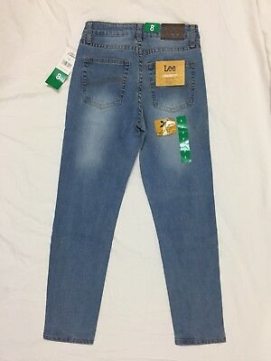 NWT Lee Jeans Performance Comfort Stretch Children's Size 8 Straight Fit Leg