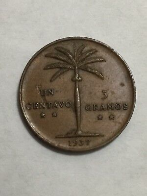 Dominican Republic 1937 1 Cent Palmita First Issue