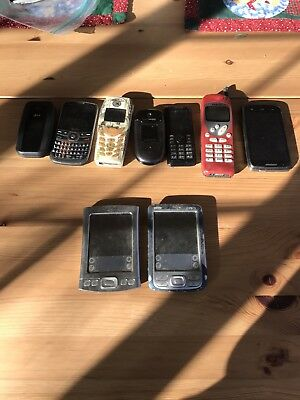 7 Cell Phones And 2 Palm Devices Selling As Is For Parts