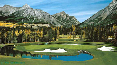 Willie Underhill - Kananaskis Country - Mount Kidd Course - Hole #4 golf print