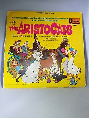 "Disney The Story Of ""The Aristocats"" - Vintage Vinyl Collectible"