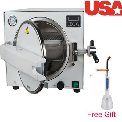 Dental Lab Equipment Stainless Steel 18L Medical Steam Sterilizer Autoclave Tray