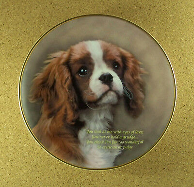 EYES OF LOVE Plate Poetry of the Cavalier King Charles Spaniel RARE HTF Danbury