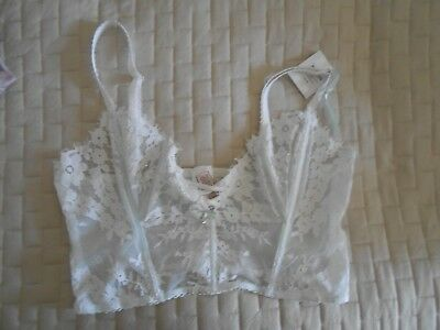 "Victoria's Secret  wedding  Buste  size L   ""I DO""    NWT"