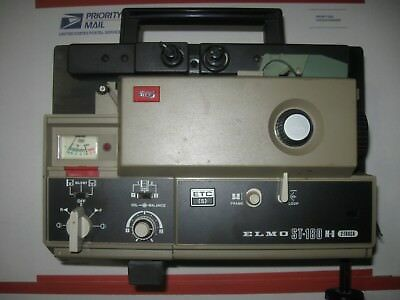 Elmo ST-180 M-D 2 Track 8MM Film Projector - UNTESTED