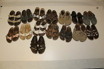 Birkenstock Lot Wholesale Used Shoes Sandals Rehab Resale Collection aJwM