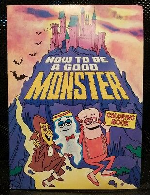1970s General Mills Monster Cereal Promo Coloring Book Chocula Franken Berry Boo