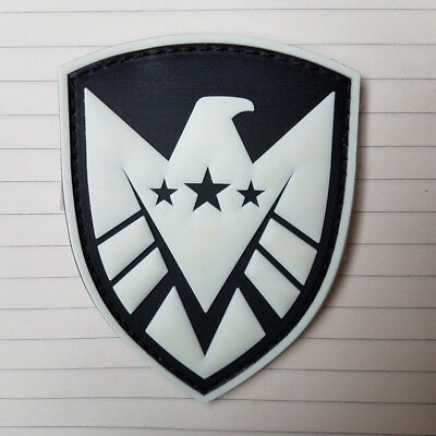 3D Pvc Hydra Logo Marvel Comics The Avengers Skull Embroidered Hook Rubber Patch