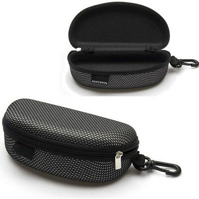 Portable Zipper Eye Glasses Sunglasses Clam Shell Hard Case Protector Box UK NEW