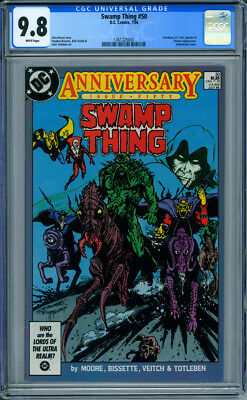 Swamp Thing #50 CGC 9.8 White Pages 1st Full Appearance Justice League Dark