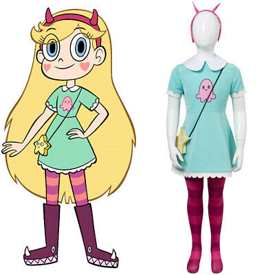 Star vs.the Forces of Evil Princess Butterfly Kid Child Ver.Cosplay Costume